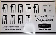 Rangemaster professional 110 dual fuel front panel sticker set.