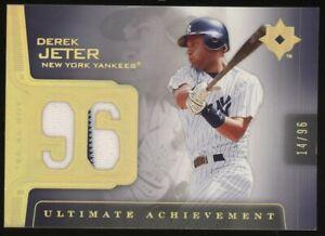 2004 Upper Deck Gold '96 ROY Derek Jeter Yankees HOF Patch 14/96