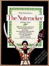 1984 Mikhail Baryshnikov photo The Nutcracker Wnet Tv Ibm vintage print ad