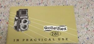 Rolleiflex 2.8E Instruction Manual ONLY!