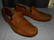 BACHRACH 91478 TAN LEATHER SLIP ON MOCCASIN LOAFER  ~ MEN'S 11.5M