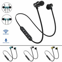 Bluetooth Wireless 4.2 Stereo Earphone Headset Magnetic In-Ear Earbuds Headphone