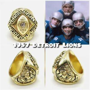 1957 DETROIT LIONS Championship Ring NFL World Champions Size 11
