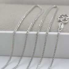 Solid Platinum 950 Necklace 1.2mm Classic Wheat Link Chain 16.9 INCH Pt950 NEW