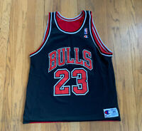 Chicago Bulls Vintage 90's Michael Jordan Champion Jersey Reversible Mens 44 L