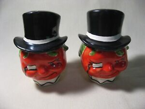 RARE VINTAGE ADVERTISING HEINZ KETCHUP SALT AND PEPPER SHAKERS