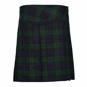 """Scottish Ladies Black Watch Skirt 20"""" Length Tartan Pleated Ladies Kilt"""