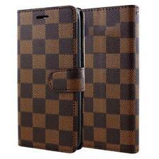 Valreda Checker flip wallet case for iPhone Samsung