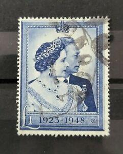 GB KING GEORGE VI SG 494 £1 BLUE FINE USED