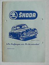 Prospekt Skoda 1200 Limousine, Lieferwagen, Station - Wagon, 1955/56, 8 Seiten