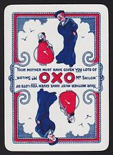 1 Single VINTAGE Playing/Swap Card OLD WIDE OXO ADV SAILOR & GIRL Reversible