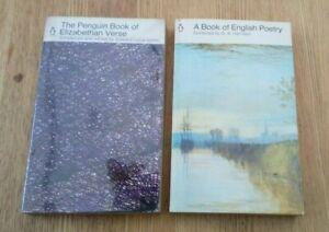 2 Vintage Penguin Books Poetry & Verse - details in Description