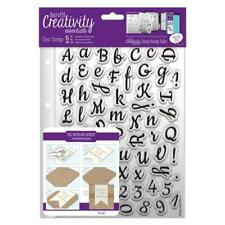 Large Script Alphabet & Numbers Clear Stamp Set (67pcs) - Cling Stamps Letters