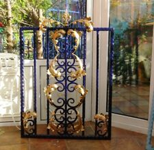 Wrought Iron Gate, fabricated gate, ornate garden gate single gate drive gate