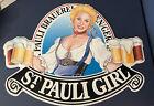 "Sign Large Metal Wall Rec Room Man Cave St. Pauli Girl Germany Beer Ale 27"" Pub"