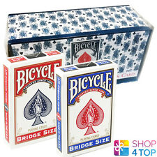 12 DECKS BICYCLE RIDER BACK BRIDGE SIZE BLUE RED SEALED BOX CASE PLAYING CARDS