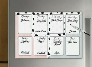 Family Planner, meal planner, Weekly Schedule, Dalmatian Print, family organiser