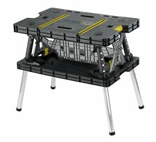 Keter 17182239 Folding Compact Workbench Work Table, 21.7 x 33.5 x