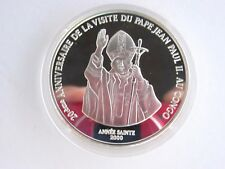 2000 Congo Pope Jean Paul II 10 Francs Silver Proof Coin