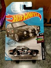hot wheels 71 ford escort rs1600 gumball rally black new long card