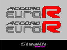 Accord Euro R stickers x2 CL7 CL9 K20 LA 200mm JDM Premium Quality x2 light cars