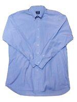 Gitman Bros Mens 17.5/36cm Long Sleeve Button Down Shirt Blue Red Plaid VTG