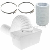 1 Metre Hose Condenser Box with Extra Long Pipe & Clips for LOGIK Tumble Dryer