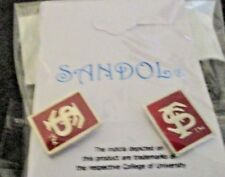 NCAA FSU Seminoles Post Stud Earrings - Lead compliant, NEW Sandol