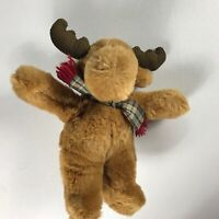 "Commonwealth Moose VTG 1993 Plush Toy 12"" Stuffed Animal 90s Kids Cuddly Scarf"