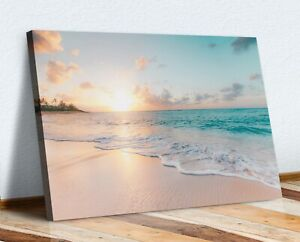 CANVAS WALL ART PRINT ARTWORK 30MM DEEP FRAME  HAWAII BEACH PEACEFUL