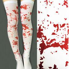 Bloody  Stockings Halloween  Ladies Horror Fancy Dress Bloody Nurse Zombie scary