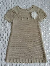 Cherokee girls knitted beige dress short sleeve sz 5 NWOT