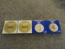 Lot of (4)Vintage 1972 1973 1974 1975 Goebel Hummel Annual Plate With Boxes