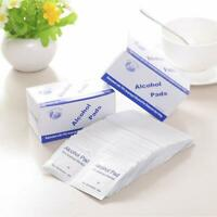 100Pcs Alcohol Formula Prep Wipes Pads Disposable Individual Package Portable