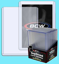 20 BCW 240pt 7MM THICK TOPLOADERS Trading Card Holder Sports Topload Jersey Auto