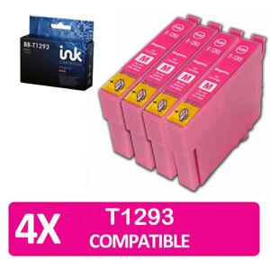 4x magenta T1293 non-oem ink cartridges for Epson Workforce Pro wf-7015