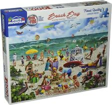 WHITE MOUNTAIN Puzzle Beach Day-Seek & Find 1000 Piece Jigsaw Puzzle