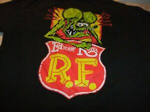 "RAT FINK ""ED BIG DADDY ROTH"" KUSTOM KULTURE BLACK T-SHIRT MEN'S SIZE M"