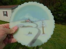 Vtg Fenton Princess House Collector Folk Art Plate Signed Hand Painted Plate '80