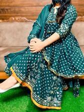 Pakistaní Boda India Vestido con Estilo Sharara de Campana Kurti Pantalón