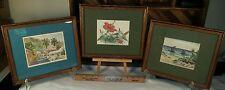 Mary Powell Art Prints 1980, 81, 82 Lot of 3 Framed - The Island Press Bermuda
