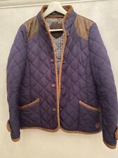 NAVY QUILTED LEATHER JACKET ZARA EUR M GLAM SMART TOWIE WINTER CHIC WORK WEAR