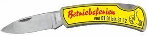 Betriebsferien Klappmesser Taschenmesser Messer Klingenlänge ca. 7 cm DM30