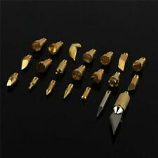 22x Wood Burning Pen Set Tips Stencil Soldering Pyrography Working Bronze tips