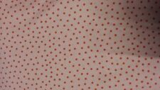 CATH KIDSTON IKEA ROSALA PINK DOTTED SHABBY CHIC FABRIC 100% COTTON ppm*
