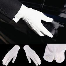 Adult White Formal Gloves Tuxedo Guard Parade Santa Inspection Fancy Dress