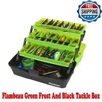 Flambeau Green Frost And Black Tackle Box Rugged Durable, Safe, Plastic, Storage