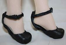 Tonner/Tyler CUSTOM BLACK LEATHER BABY DOLL STYLE SHOES by CHRISSY STEWART