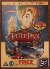 Walt Disney's Peter Pan Special Edition 2 disc DVD Gift Set & Story Book. OOP