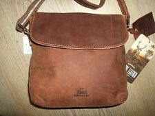 Rowallan Brown Leather Cross Body Messenger Bag Shoulder Bag Bnwt HAND CRAFTED